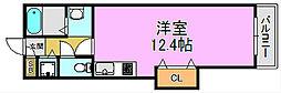 ワイズアーク三国ヶ丘[6階]の間取り