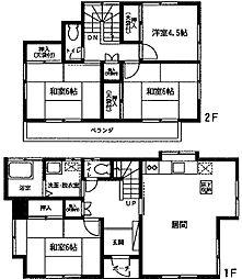 [一戸建] 神奈川県厚木市林3丁目 の賃貸【/】の間取り