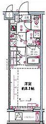 都営三田線 蓮根駅 徒歩8分の賃貸マンション 4階1Kの間取り