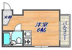 メゾン六甲[201号室]の間取り