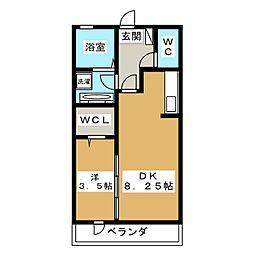 アステール[2階]の間取り