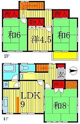 [一戸建] 千葉県松戸市五香西4丁目 の賃貸【/】の間取り