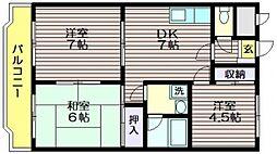 芦花公園ガーデンハイム[202号室]の間取り