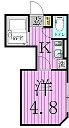 レクラン五反野[2階]の間取り