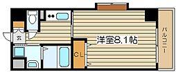インベスト北梅田[7階]の間取り