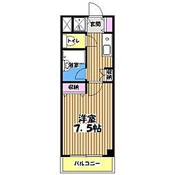 KWプレイス国分寺[4階]の間取り
