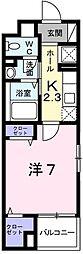 兵庫県姫路市城見町の賃貸マンションの間取り
