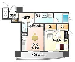 サンレムート江坂Second[2階]の間取り