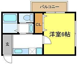 プチベルン平野[2階]の間取り