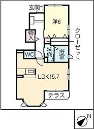 ルシヨン C棟[1階]の間取り