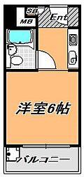兵庫県神戸市灘区上河原通3丁目の賃貸マンションの間取り