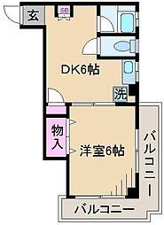 第2ホシノコーポ[4階]の間取り