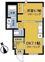 カーサ ビアンカ トキワダイ[1階]の間取り