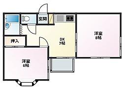 ミキハイツ[2階]の間取り