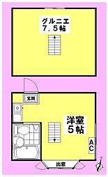 セゾン沼袋[2階]の間取り