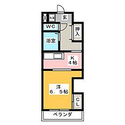 レオン八事 3号館[1階]の間取り