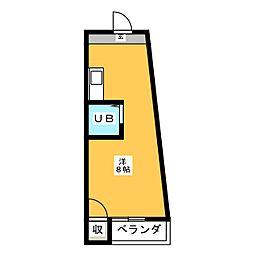 幸川マンション島田[2階]の間取り