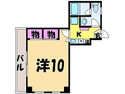 愛媛県松山市喜与町1丁目の賃貸マンションの間取り