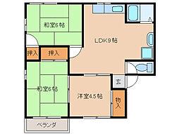 コーポマツムラA・B棟[2階]の間取り