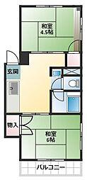 関根コーポ[5階]の間取り