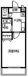 エクセル石浜 知多郡東浦町[3F号室]の間取り