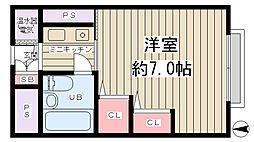 マンション新大阪[2階]の間取り