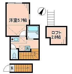 東京都墨田区押上3丁目の賃貸アパートの間取り