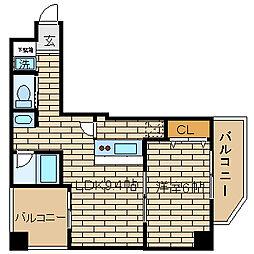兵庫県神戸市長田区松野通2の賃貸マンションの間取り