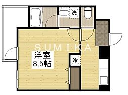 THE MODERN 京町 6階1Kの間取り