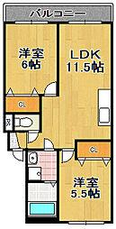 コスモメゾン[1階]の間取り