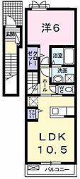 メープル昭島[0202号室]の間取り
