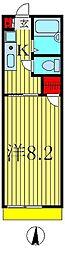 ビューラー初石[1階]の間取り