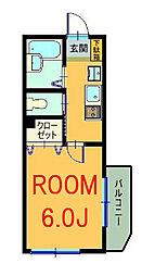 神奈川県横浜市神奈川区三ツ沢西町の賃貸マンションの間取り