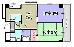 コスモス21パートII[301号室]の間取り