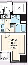 東京メトロ日比谷線 築地駅 徒歩9分の賃貸マンション 3階1Kの間取り