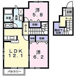 ラフィネITO B[203号室]の間取り