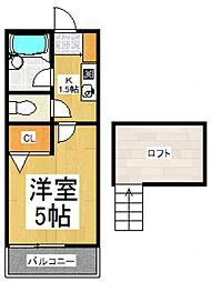 ブルーノート萩山[2階]の間取り
