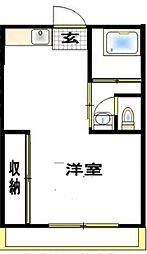 神奈川県大和市西鶴間5丁目の賃貸マンションの間取り