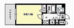 ロイヤルコンフォート別府5[5階]の間取り