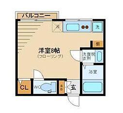 アレンタール西新宿[202号室]の間取り