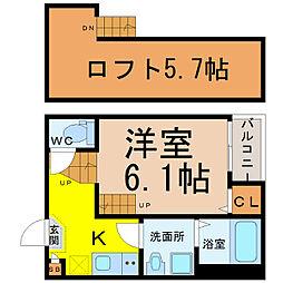 愛知県名古屋市熱田区四番2丁目の賃貸アパートの間取り