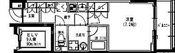 東武伊勢崎線 曳舟駅 徒歩5分の賃貸マンション 8階1Kの間取り