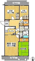 WING東戸塚(ウィングヒガシトツカ)[2階]の間取り