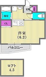 エステムコート神戸県庁前IIIフィエルテ[11階]の間取り