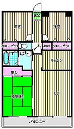 フラワーマンションコヤタ[4階]の間取り