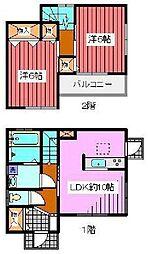 [一戸建] 埼玉県川口市朝日3丁目 の賃貸【/】の間取り