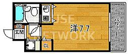 DETOM-1西陣聚楽II[408号室号室]の間取り