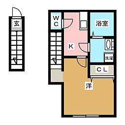 Refine 戸塚町 1階1Kの間取り