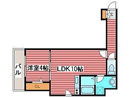 ビブレス月寒中央ステーション[2階]の間取り