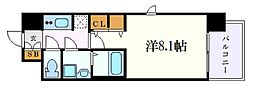 S-RESIDENCE黒川II 11階1Kの間取り